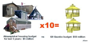Attawapiskat vs G8 gazebos